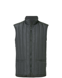 Мужская темно-серая стеганая куртка без рукавов от Cerruti 1881