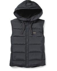 Мужская темно-серая стеганая куртка без рукавов от Dolce & Gabbana
