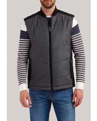 Мужская темно-серая стеганая куртка без рукавов от FiNN FLARE