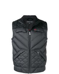 Мужская темно-серая стеганая куртка без рукавов от Perfect Moment