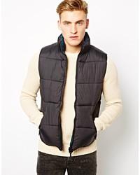 Мужская темно-серая стеганая куртка без рукавов от Selected