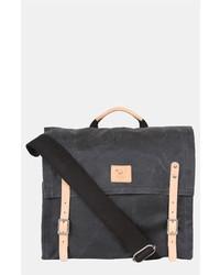 Темно-серая сумка почтальона из плотной ткани