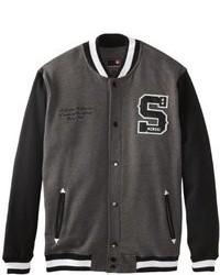 Темно-серая университетская куртка