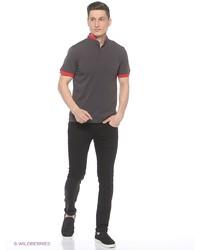 Мужская темно-серая футболка-поло от D.S