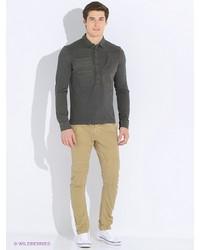 Мужская темно-серая футболка-поло от FREESOUL