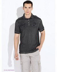 Мужская темно-серая футболка-поло от LERROS