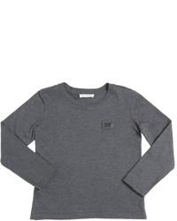 Темно-серая футболка с длинным рукавом