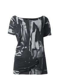 Женская темно-серая футболка с круглым вырезом с принтом от Ann Demeulemeester