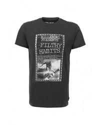 Мужская темно-серая футболка с круглым вырезом с принтом от Billabong