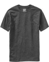 Темно-серая футболка с круглым вырезом
