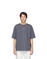Мужская темно-серая футболка с круглым вырезом от Acne Studios