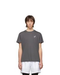 Мужская темно-серая футболка с круглым вырезом от Asics