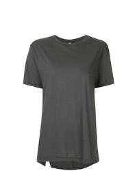 Женская темно-серая футболка с круглым вырезом от Bassike