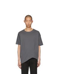 Мужская темно-серая футболка с круглым вырезом от Bottega Veneta