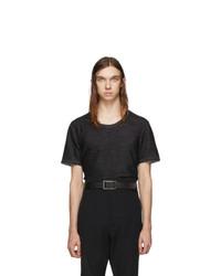 Мужская темно-серая футболка с круглым вырезом от Deepti