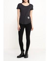 Женская темно-серая футболка с круглым вырезом от G Star