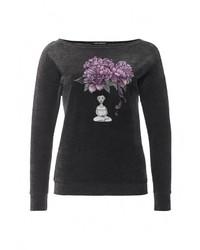 Женская темно-серая футболка с круглым вырезом от Grishko