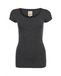 Женская темно-серая футболка с круглым вырезом от Ichi