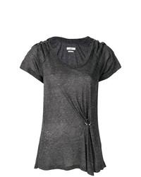 Женская темно-серая футболка с круглым вырезом от Isabel Marant Etoile