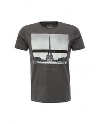 Мужская темно-серая футболка с круглым вырезом от Jack & Jones