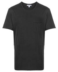 Мужская темно-серая футболка с круглым вырезом от James Perse