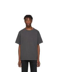Мужская темно-серая футболка с круглым вырезом от John Elliott