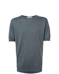 Мужская темно-серая футболка с круглым вырезом от John Smedley