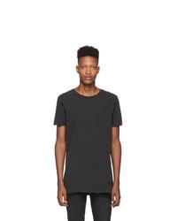 Мужская темно-серая футболка с круглым вырезом от Ksubi