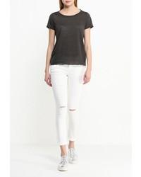 Женская темно-серая футболка с круглым вырезом от Vero Moda