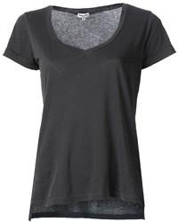 Темно-серая футболка с v-образным вырезом
