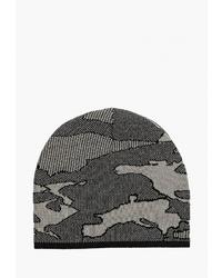 Мужская темно-серая шапка с принтом от Piazza Italia