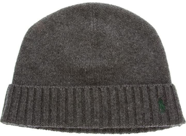 f055ce979ede Мужская темно-серая шапка от Ralph Lauren