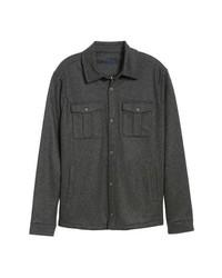 Темно-серая шерстяная куртка-рубашка