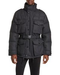 Темно-серая шерстяная полевая куртка