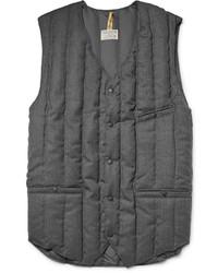 Мужская темно-серая шерстяная стеганая куртка без рукавов от Rocky Mountain Featherbed