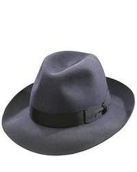 Темно-серая шерстяная шляпа
