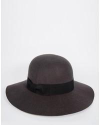 Мужская темно-серая шерстяная шляпа от Asos