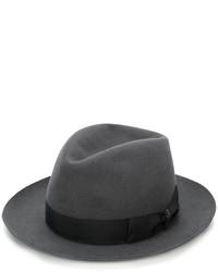 Мужская темно-серая шерстяная шляпа от Borsalino
