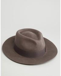 Мужская темно-серая шерстяная шляпа от Brixton