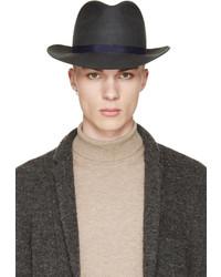 Мужская темно-серая шерстяная шляпа от Robert Geller