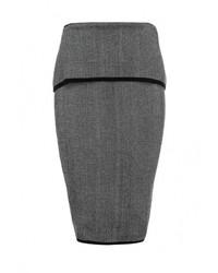 Темно-серая юбка-карандаш от LOST INK