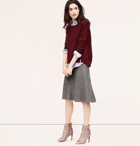С чем носить темно серую юбку