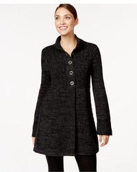 Чёрное шерстяное пальто Bitte Kai Rand 125 35 594