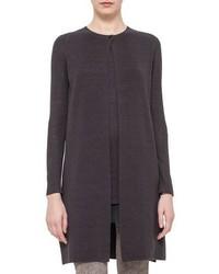 Женское темно-серое вязаное пальто от Akris