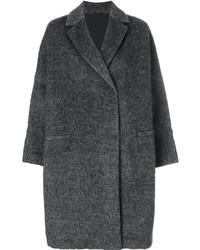 Женское темно-серое вязаное пальто от Brunello Cucinelli