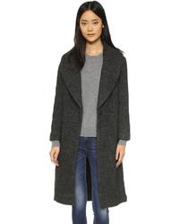 Женское темно-серое вязаное пальто от Club Monaco