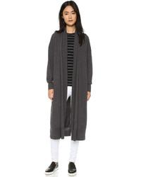 Женское темно-серое вязаное пальто от DKNY