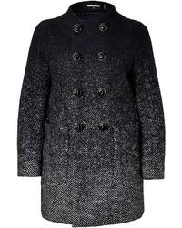 Женское темно-серое вязаное пальто от Dsquared2