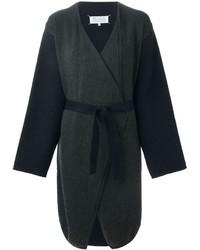 Женское темно-серое вязаное пальто от Maison Margiela