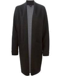 Женское темно-серое вязаное пальто от Theory